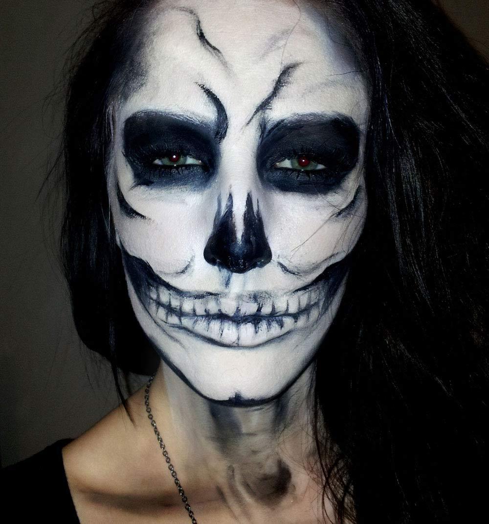 Как разрисовать лицо на хэллоуин фото